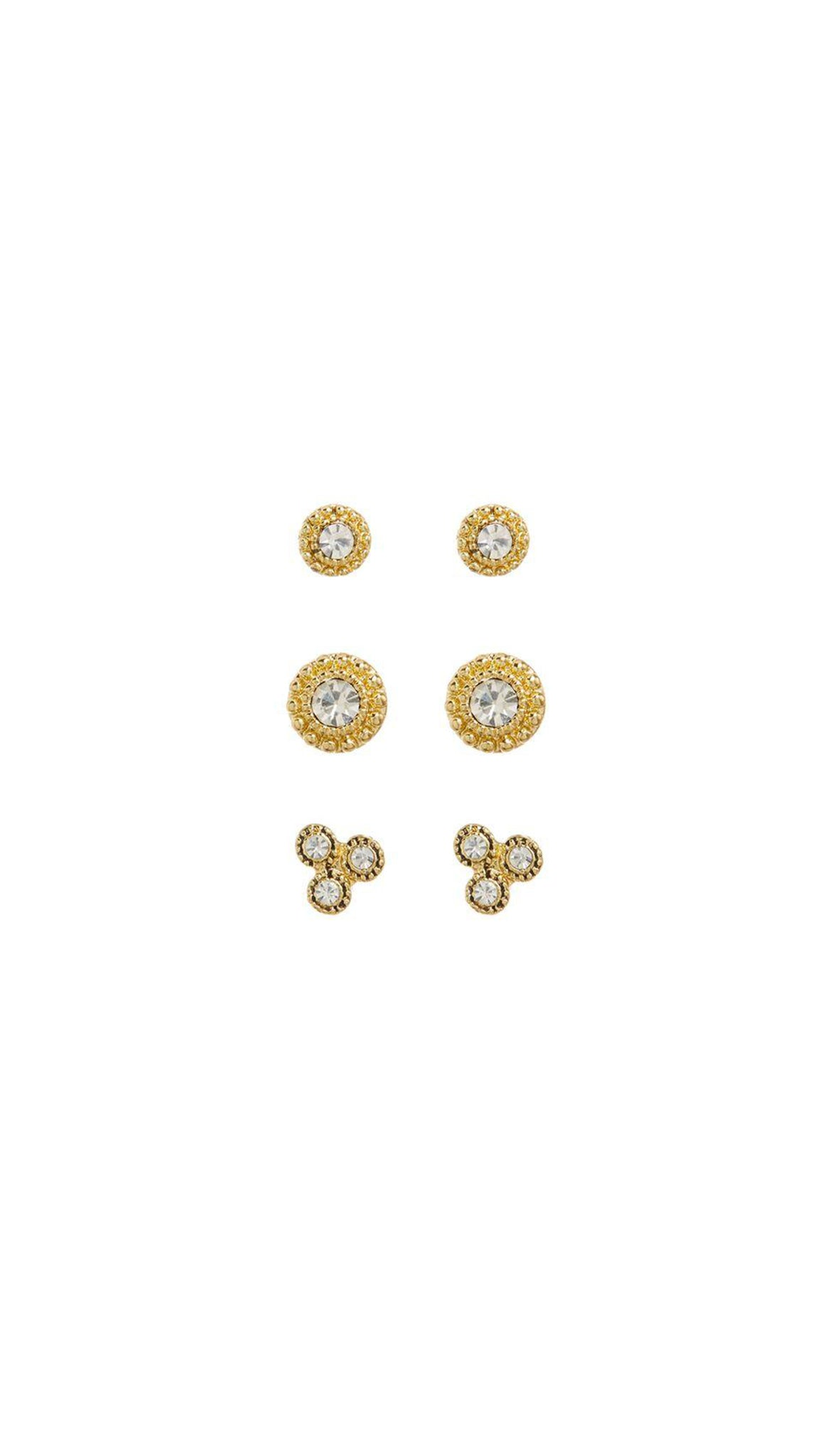 LUV AJ Gold Earring Set