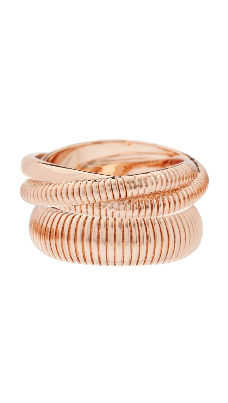 Snake Chain Cigar Rings - Rose