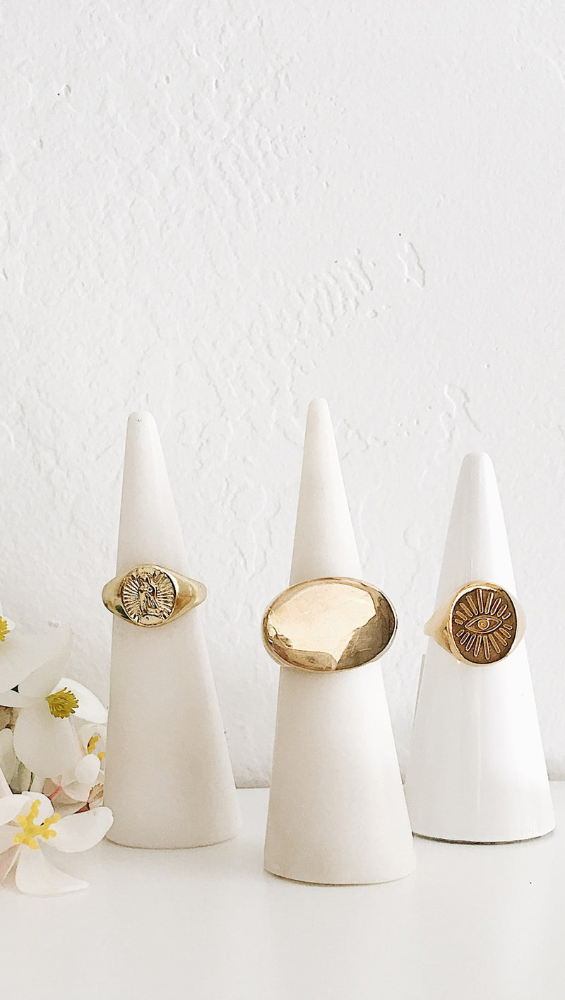 Eye Signet Ring - Gold