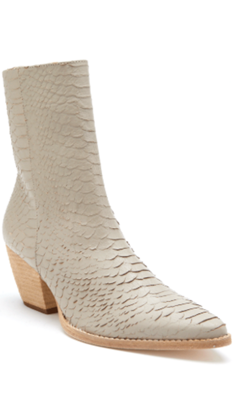 Matisse Ivory Snakeskin Boots