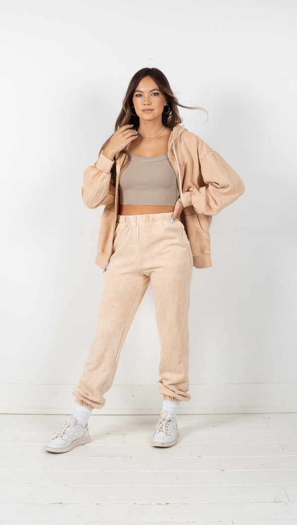 Bailey Terry Jogger Pants - Tan