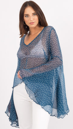 MLM The Label Blue And White Star Blouse