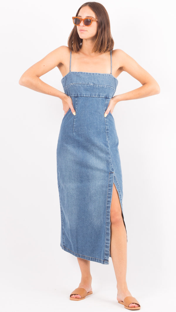 MLM The Label Denim Midi Dress