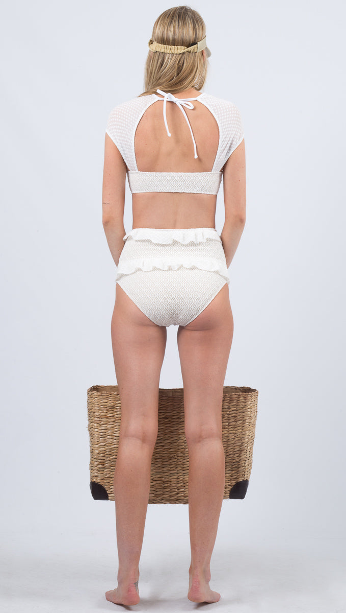 Flirtini High Waist Bottoms - Dove