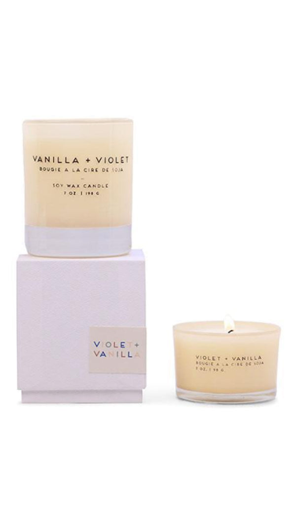 Statement Candle 7 Oz - Violet + Vanilla