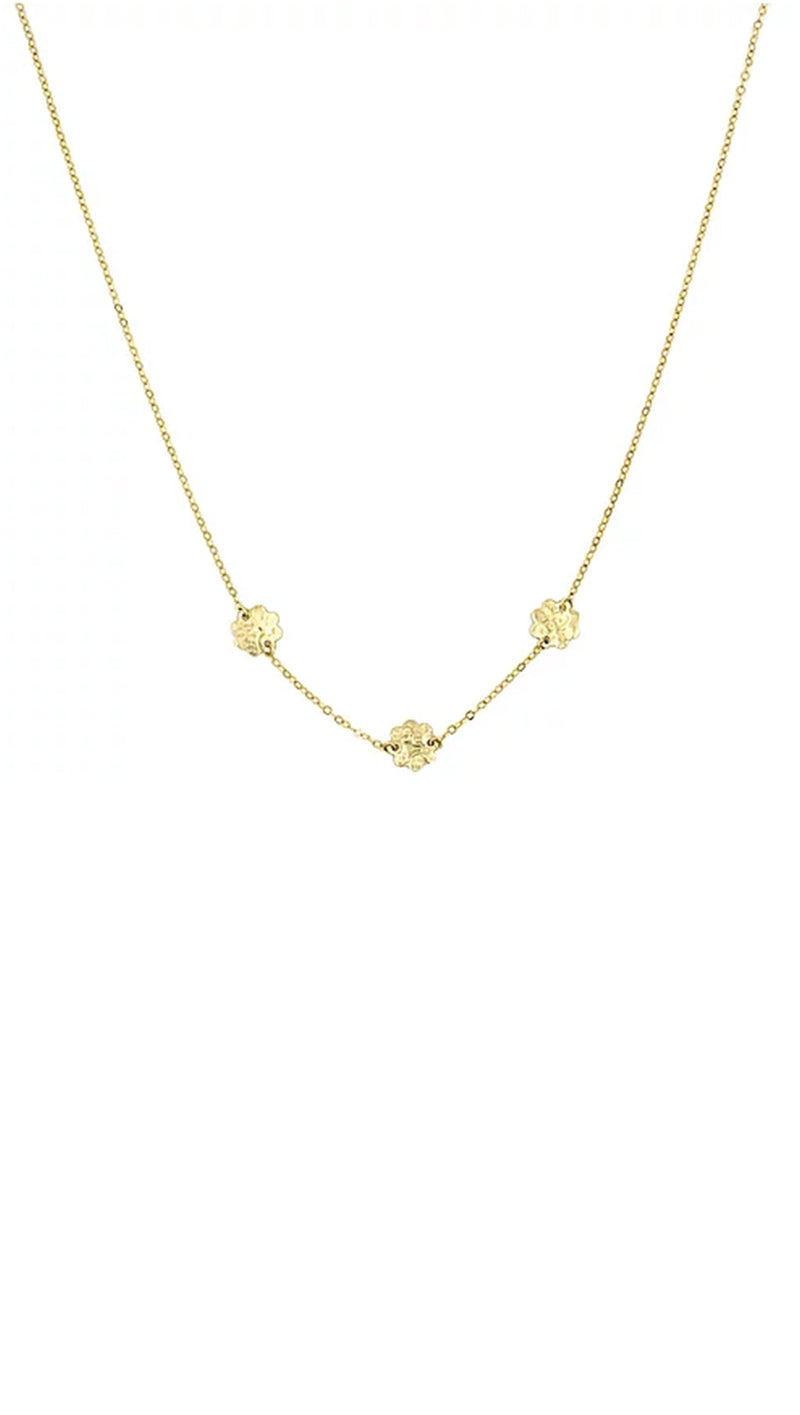 Paradigm Design Gold Fill Flower Charm Necklace