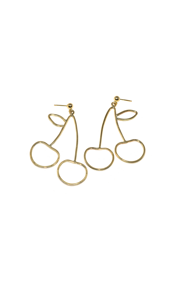 Cherry Earrings - Brass