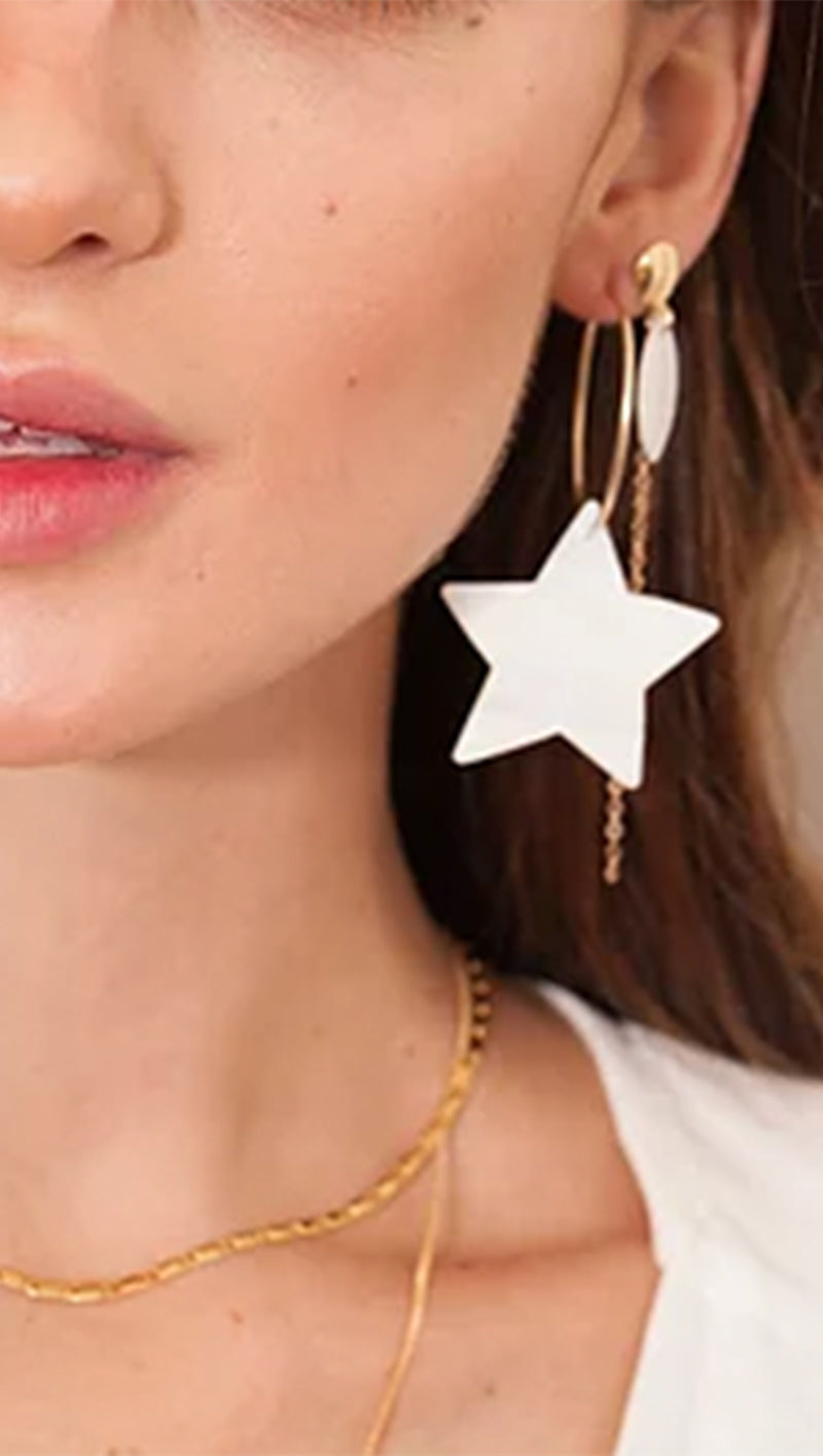 Starry Night Hoops - Stars Only