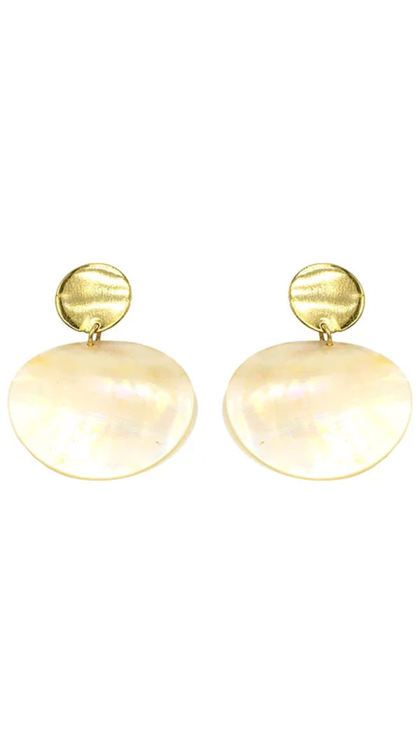Paradigm Design Gold Plated Pearl Statement Earrings