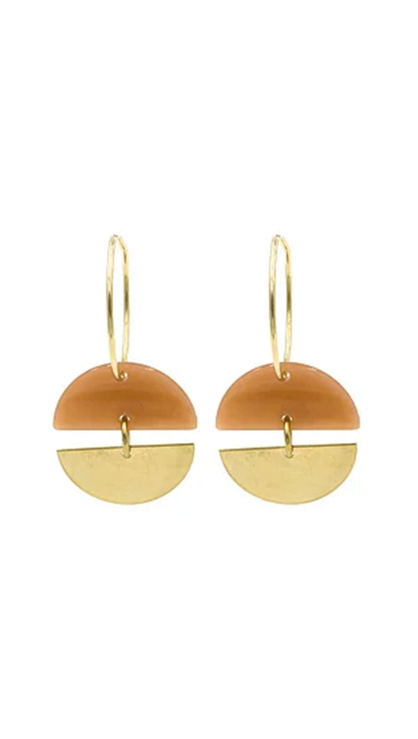 Paradigm Design Gold Fill Acrylic Statement Earrings