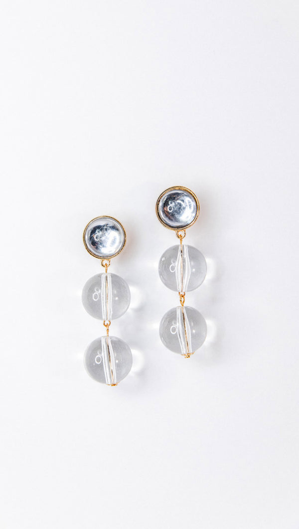 Petit Moments Lucite Statement Earrings