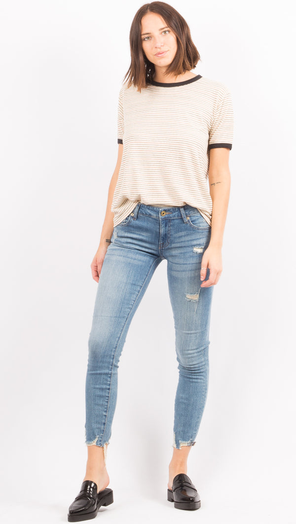 Pistola Blue Distressed Skinny Jeans