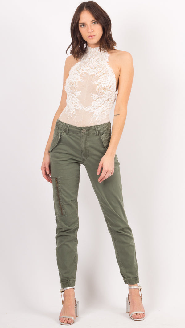 Pistola Army Green High Rise Pants