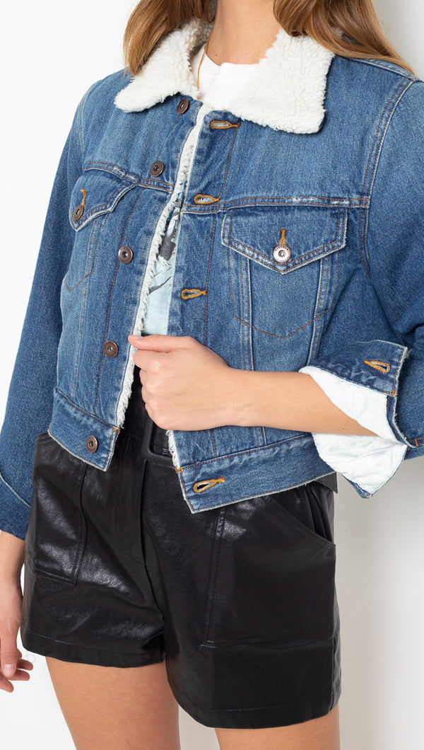 Pistola Blue Cropped Denim Jacket