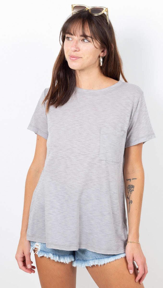 Everyday Crewneck Pocket Tee - Taupe