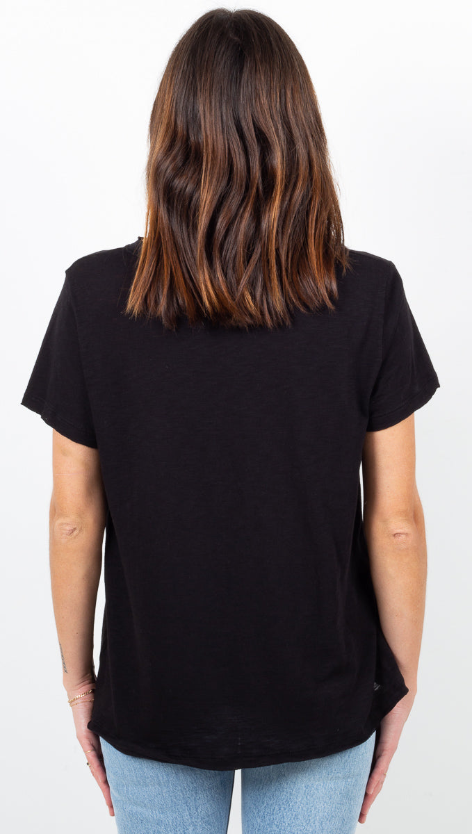Everyday Crewneck Pocket Tee - Black