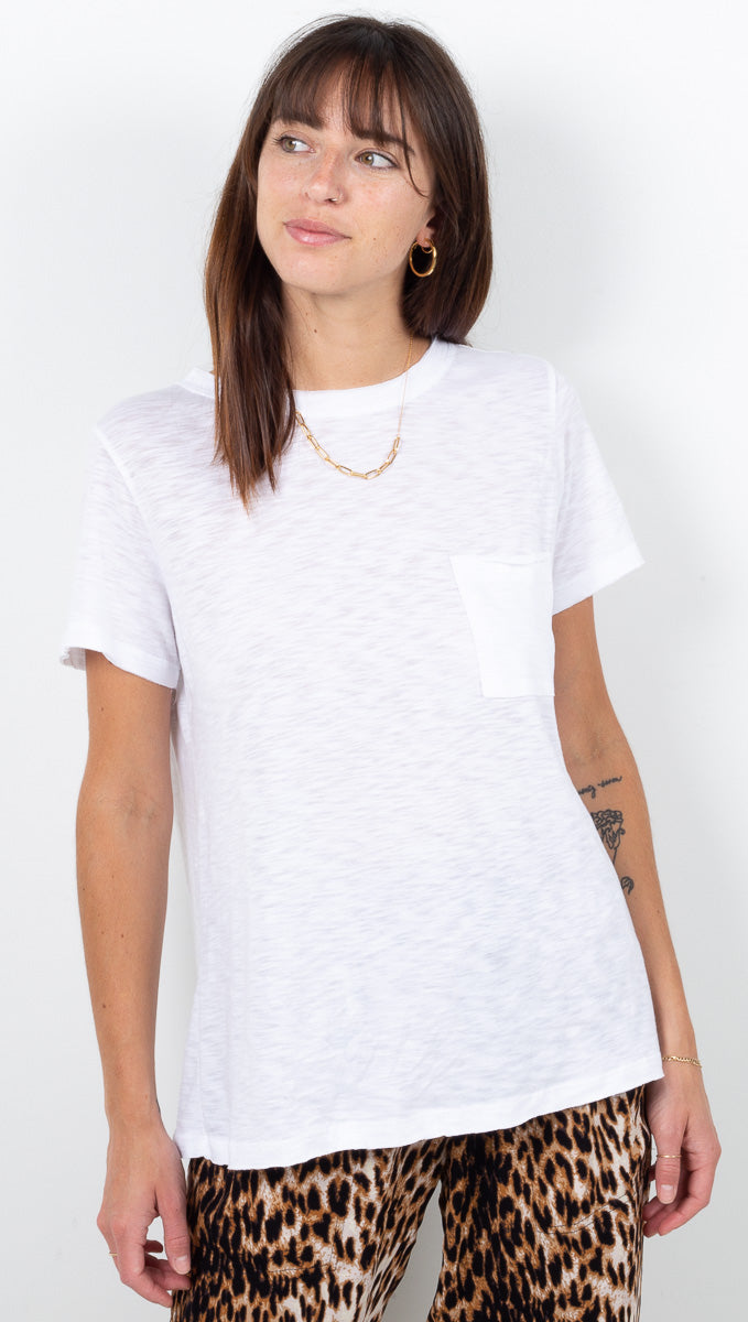 Everyday Crewneck Pocket Tee - White