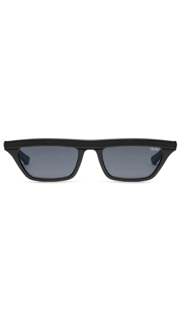 Quay Black Rectangular Shaped Sunglasses
