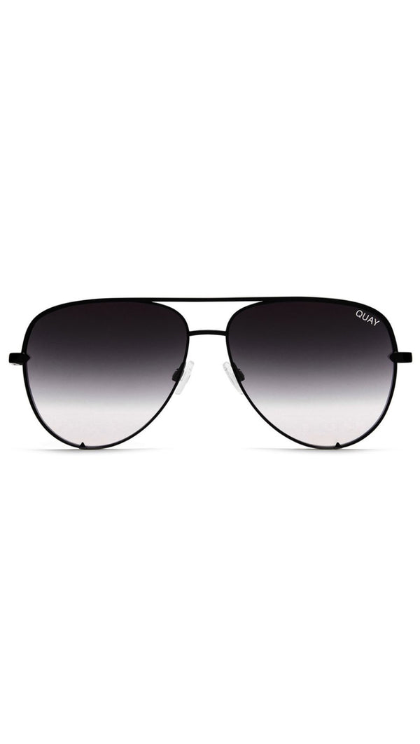 Quay Black Metal Frame Aviator