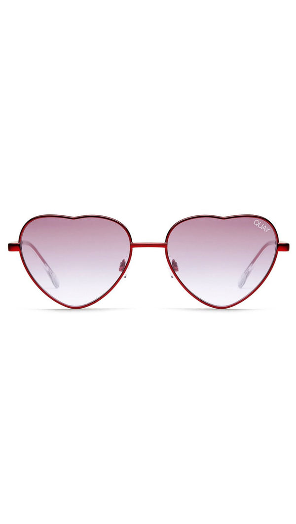 Quay Red And Purple Metal Frame Heart Shaped Sunglasses