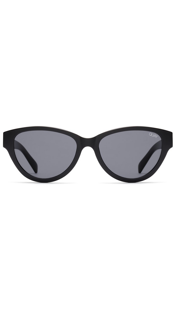Quay Black Frame Sunglasses