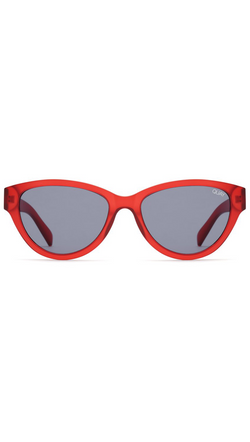 Quay Red Frame Sunglasses