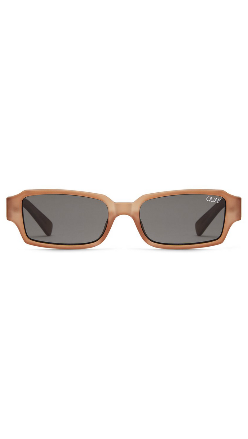 Quay Brown Rectangle Frame Sunglasses