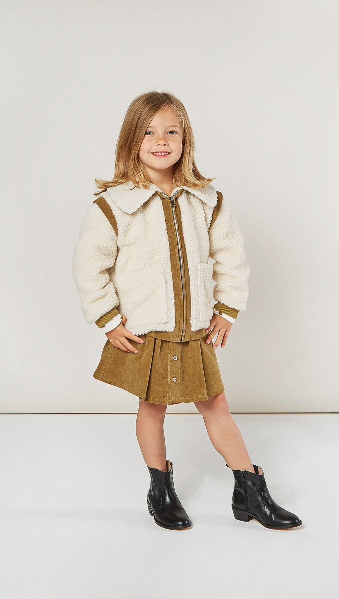 Rylee + Cru Natural Sherpa Jacket