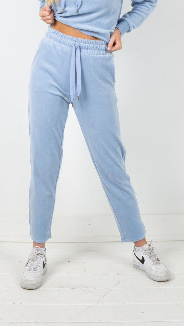 Haven Knit Pant - Dusty Blue