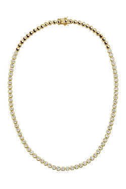 Lili Claspe reese tennis necklace short gold