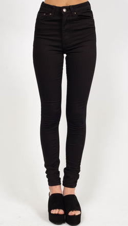 RES Denim Harry's Hi; Black Skinny Jeans