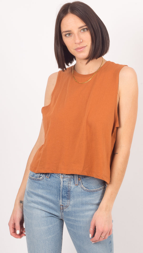 Cropped Tank - Tobacco