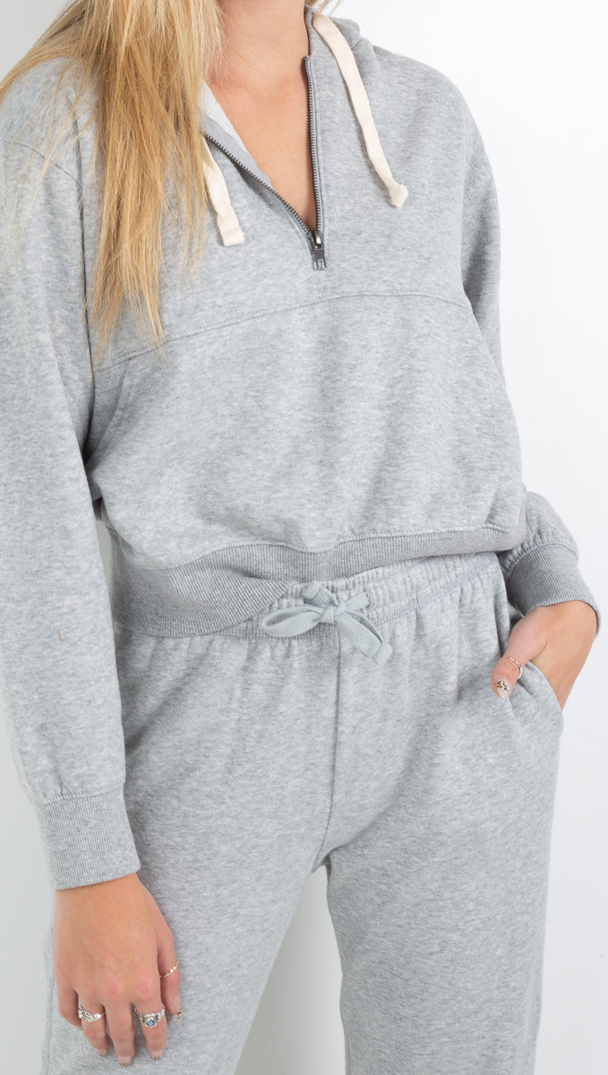 Women's Fleece Half Zip Hoodie - More Colors
