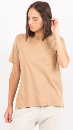 Richer Poorer Tan Pocket Tee