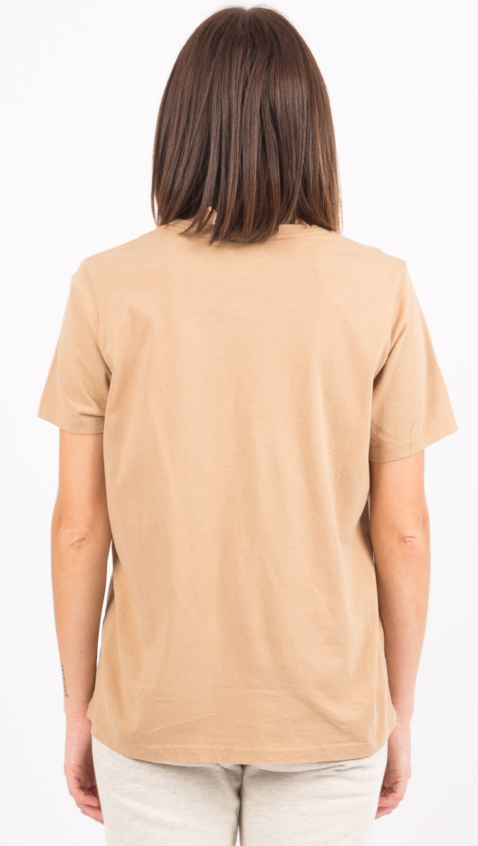 Pocket Crew Tee - Tan