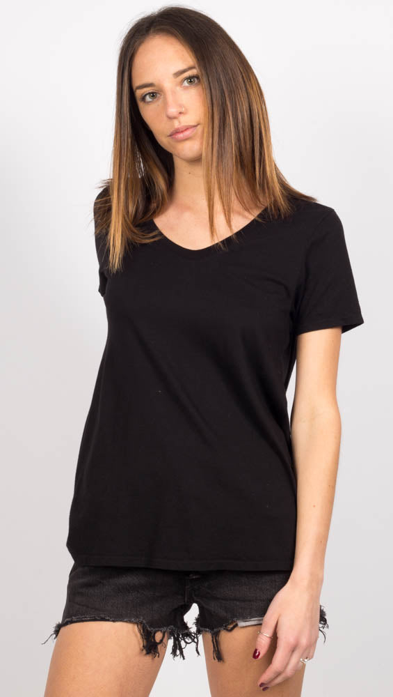 Scoop V Tee - Black