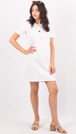 Richer Poorer White Tshirt Dress