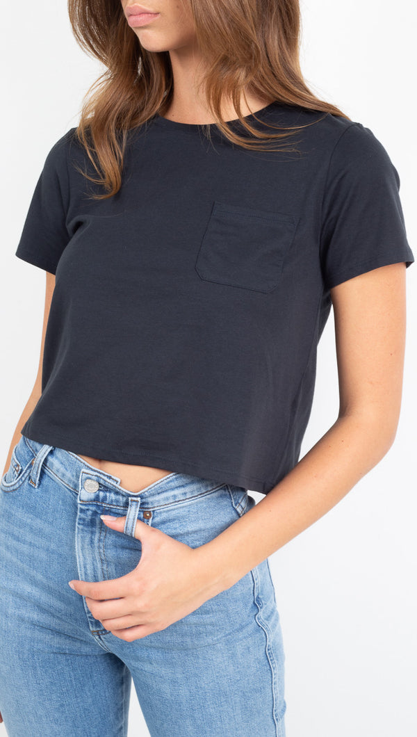 Boxy Crop Tee - Stretch Limo