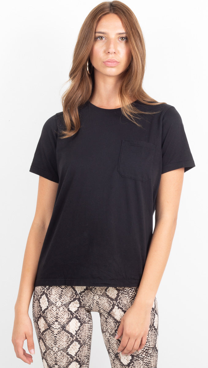 Women's Pocket Crew Tee - Black
