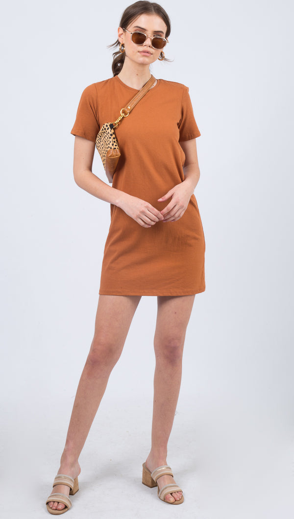 Richer Poorer Orange Short Sleeve Tee Dress