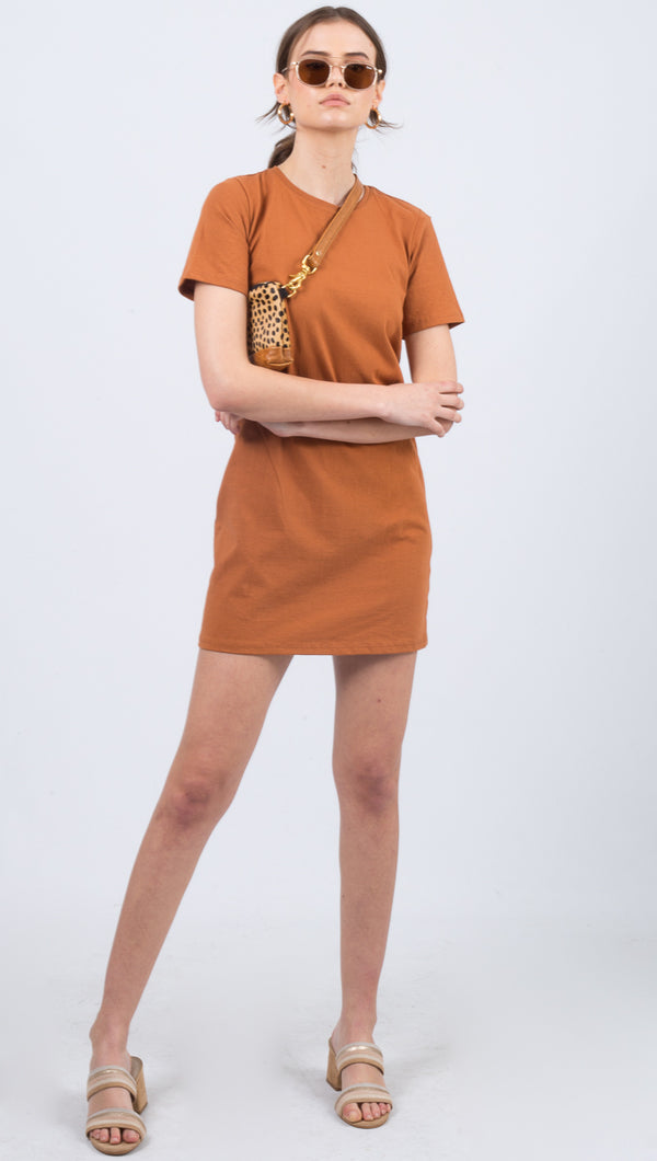 Tee Dress - Tobacco