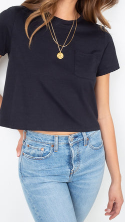 Richer Poorer Black Crop Tee