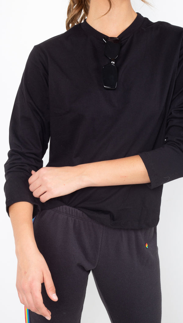 Richer Poorer Black Long Sleeve Tee