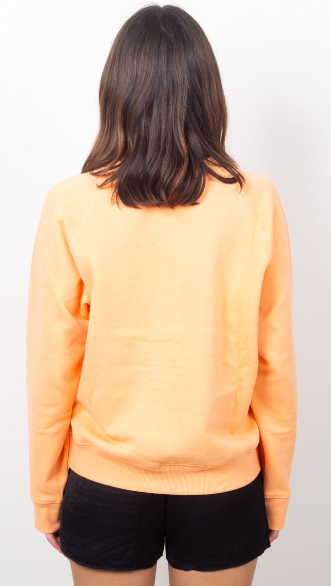 Women's Fleece Sweatshirt - Cantaloupe