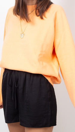 Richer Poorer Peachy Orange Crewneck Fleece Sweatshirt