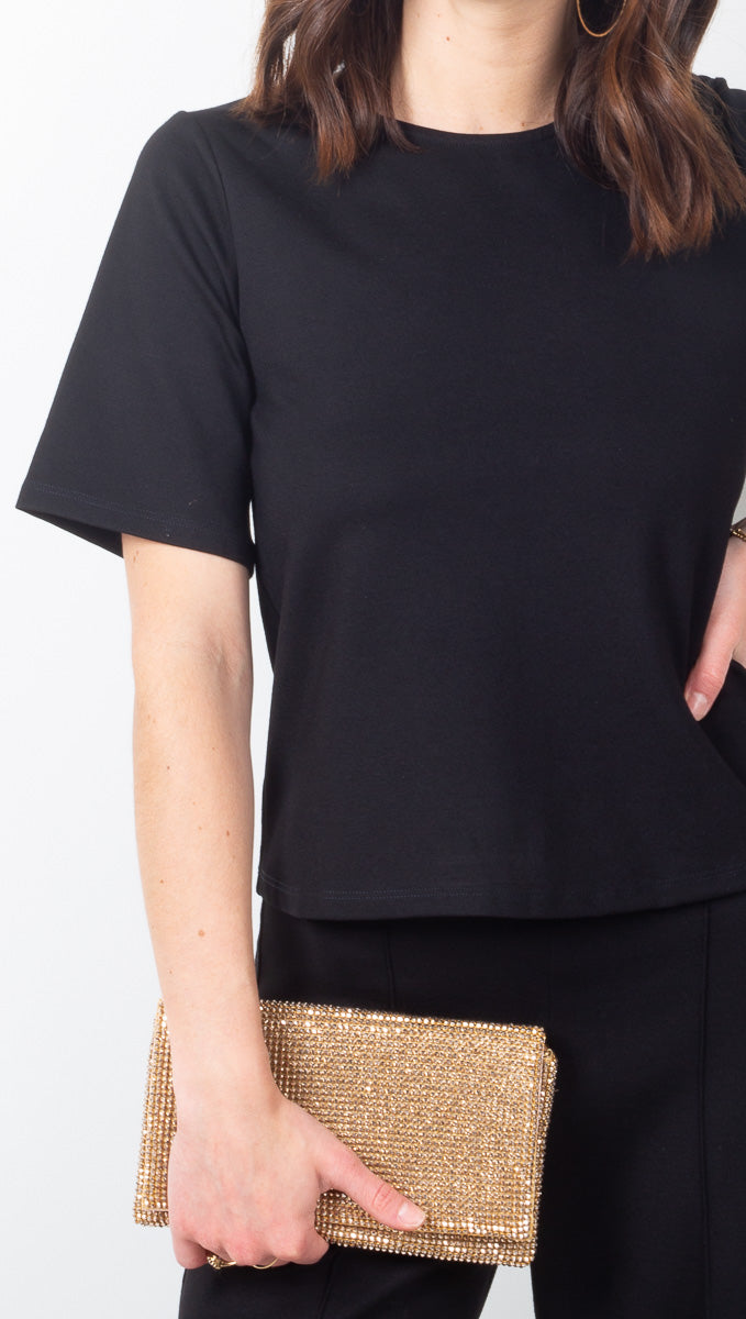 Ripley Rader Black Ponte Knit Structured Tee
