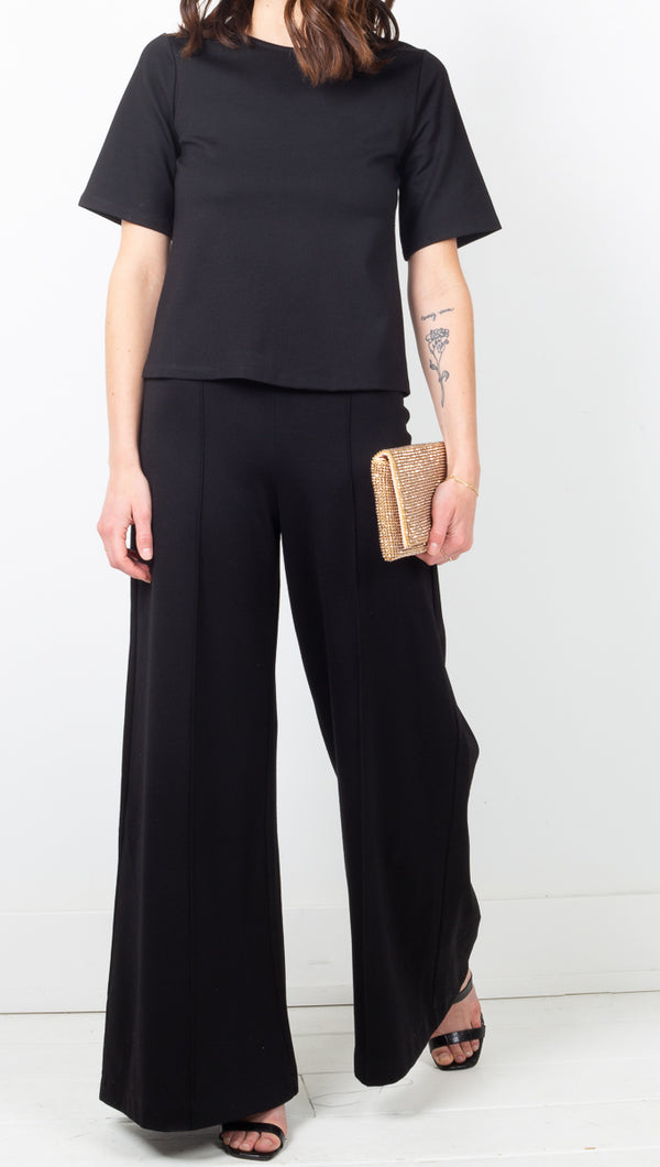 Ripley Rader Black High Rise Crop Wide Leg Pants