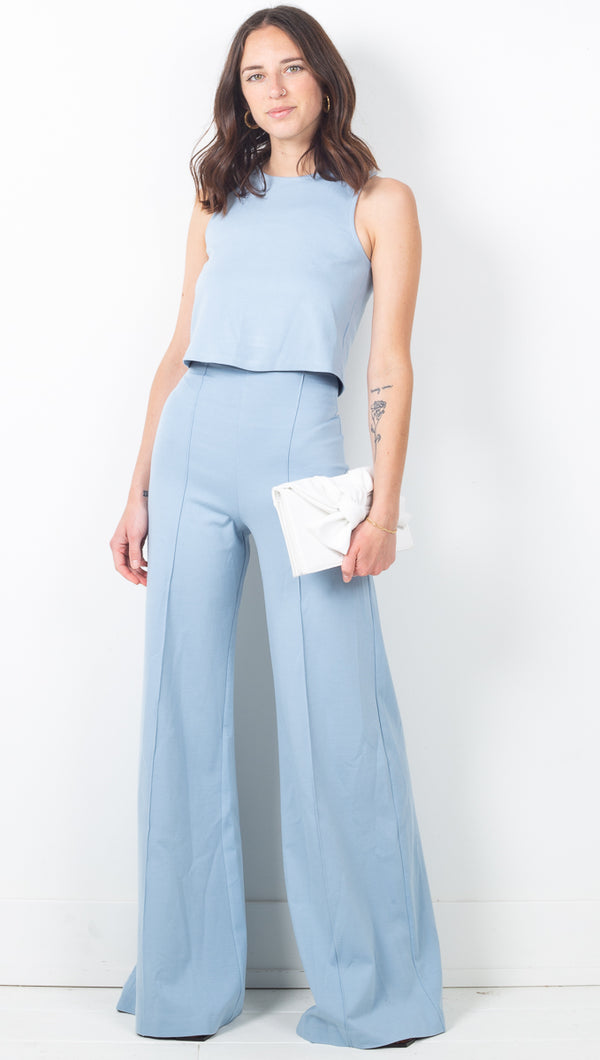 Wide Leg Pant - Light Blue
