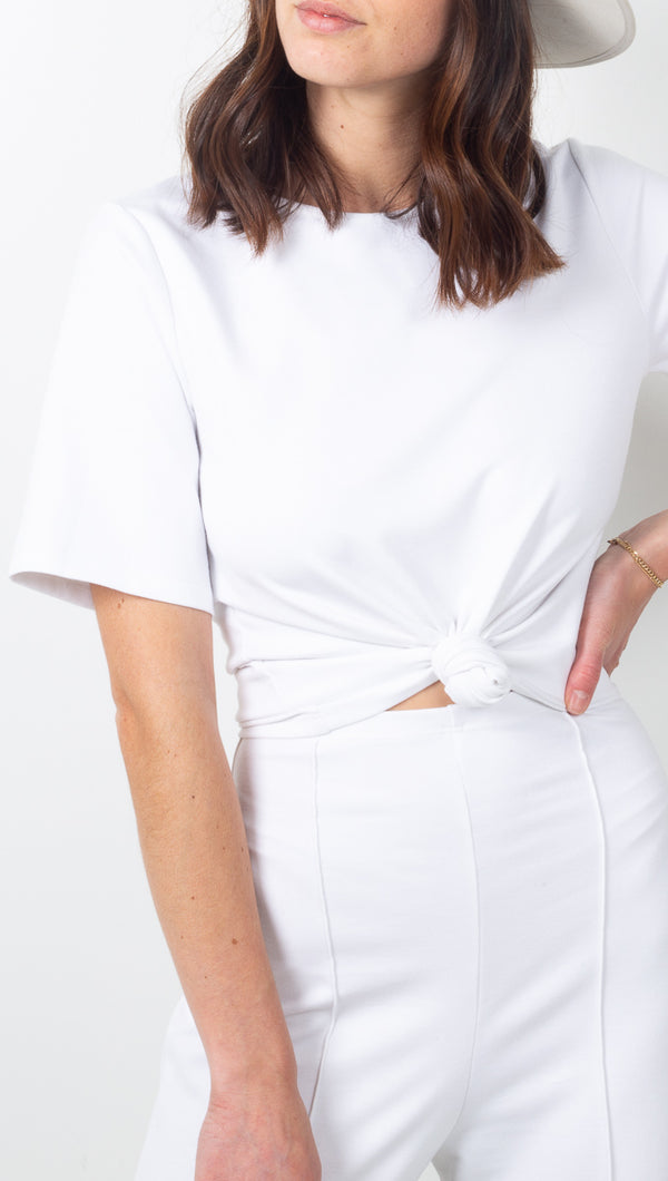 Ripley Rader White Ponte Knit Structured Tee