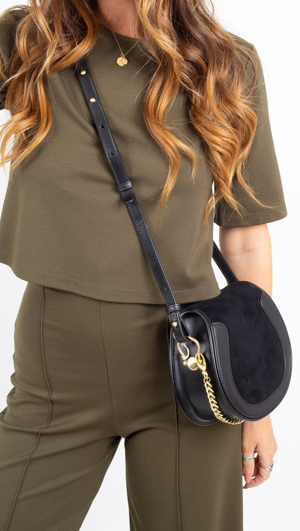 Ripley Rader olive thick structured cropped tee
